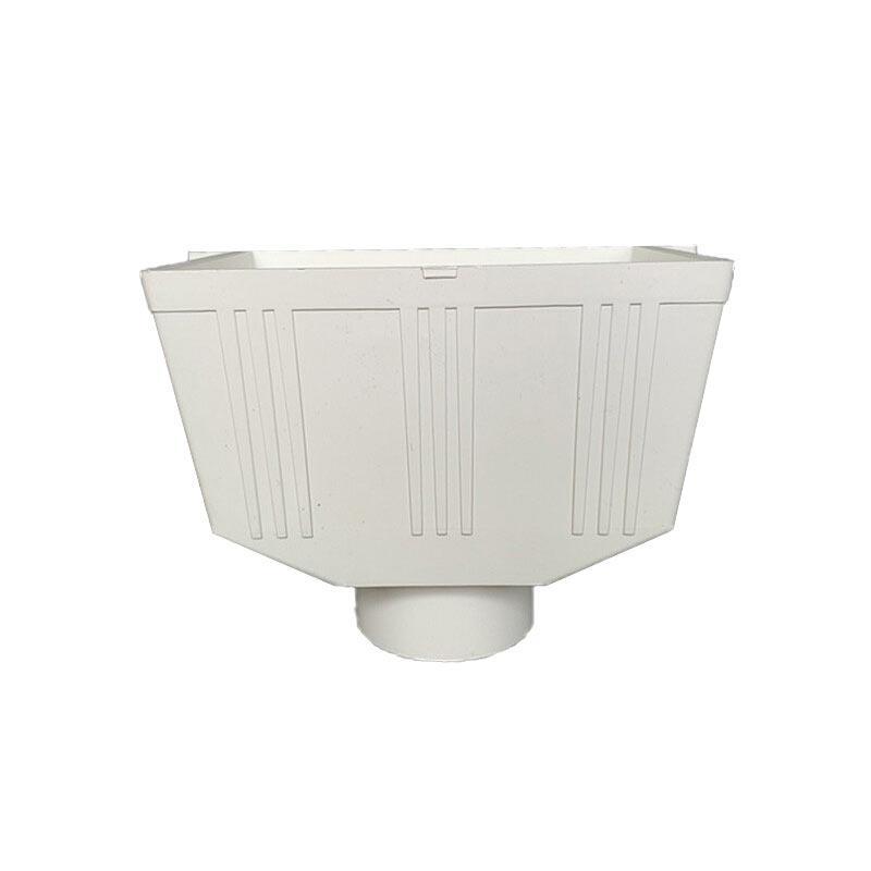 联塑 方型雨水斗PVC-U排水配件白色 dn110