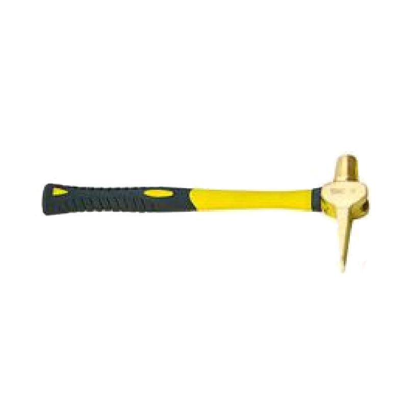 渤防 防爆扁尾检验锤(带柄) 1194-001 0.6kg 铝青铜