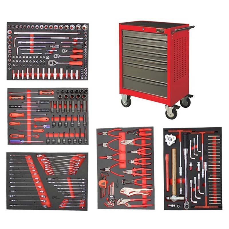 捷科JETECH 工具车套装,258件套,含7抽工具车,060870,RC-258S