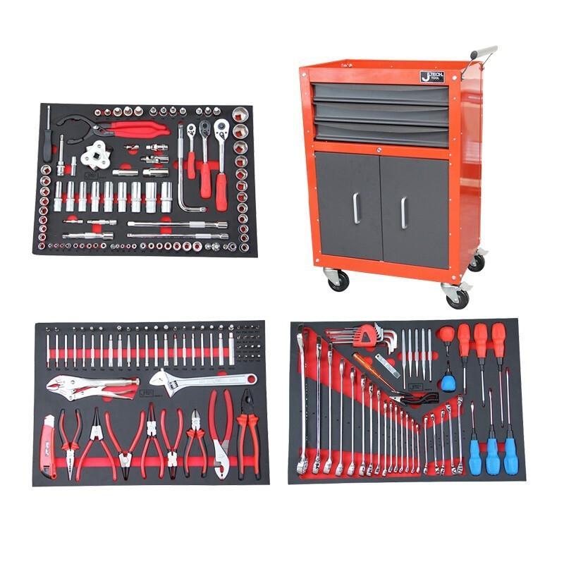捷科JETECH 工具车套装,200件套,含RC-3D工具车,060889,RC-200S(3D款)