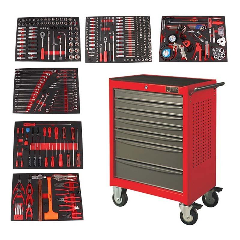 捷科JETECH 工具车套装,364件套,含7抽工具车,060890,RC-364S