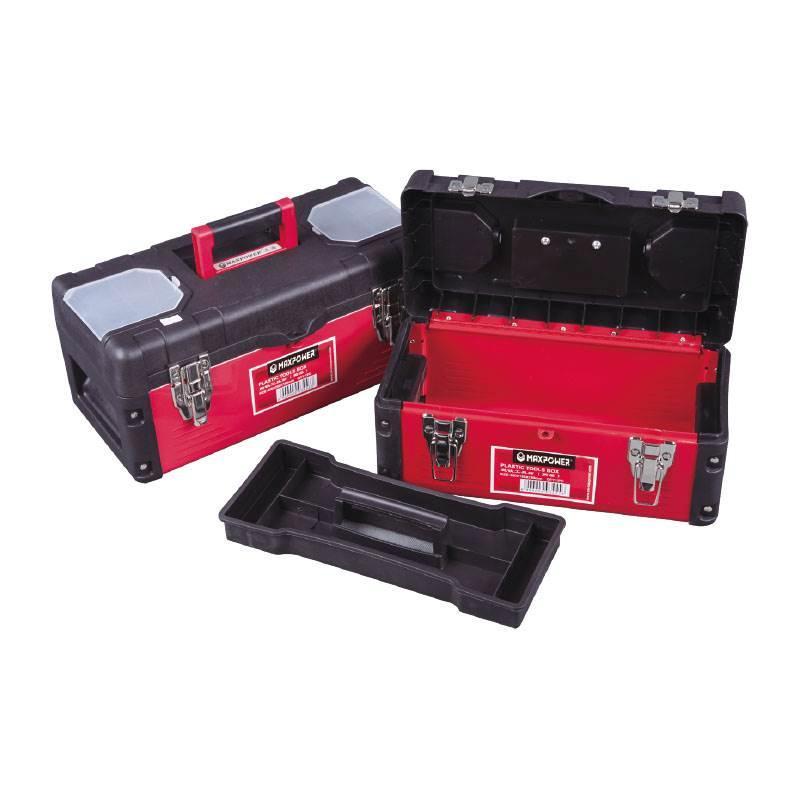 MAXPOWER 塑铁工具箱,360*185*180mm,M08167