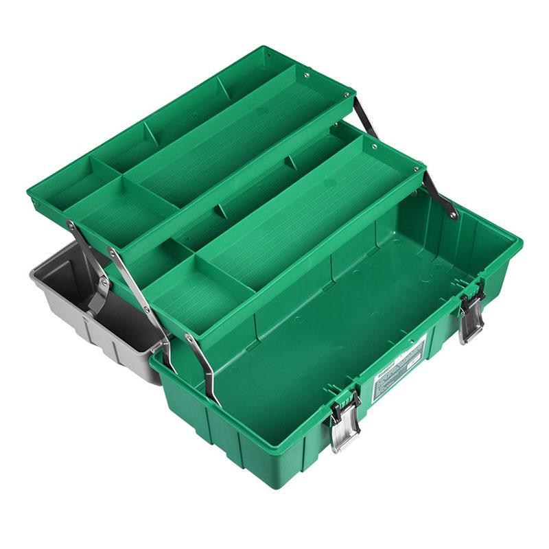美耐特 三层折叠五金工具箱,19,MNT030019
