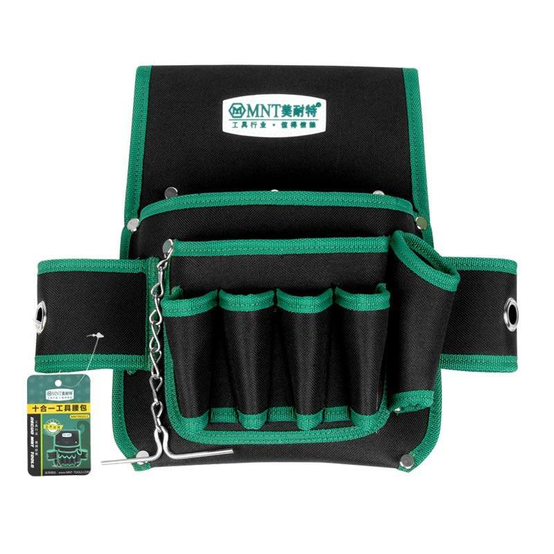 美耐特 五金工具包,10合1腰包,不含腰带,MNT991011