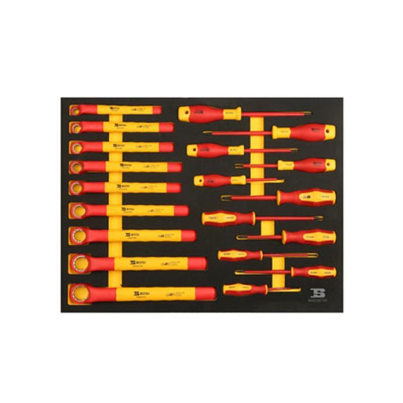 波斯BOSI 20件扳手旋具工具托组套(522072A) 20件 BS522072A