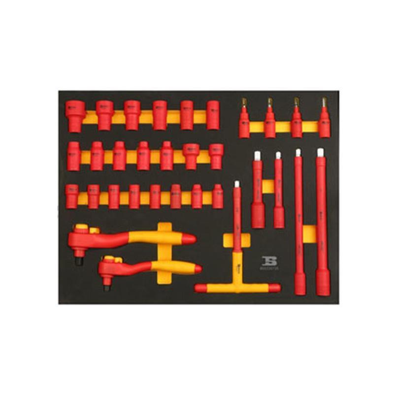 波斯BOSI 32件套筒类工具托组套(522072C) 32件 BS522072C
