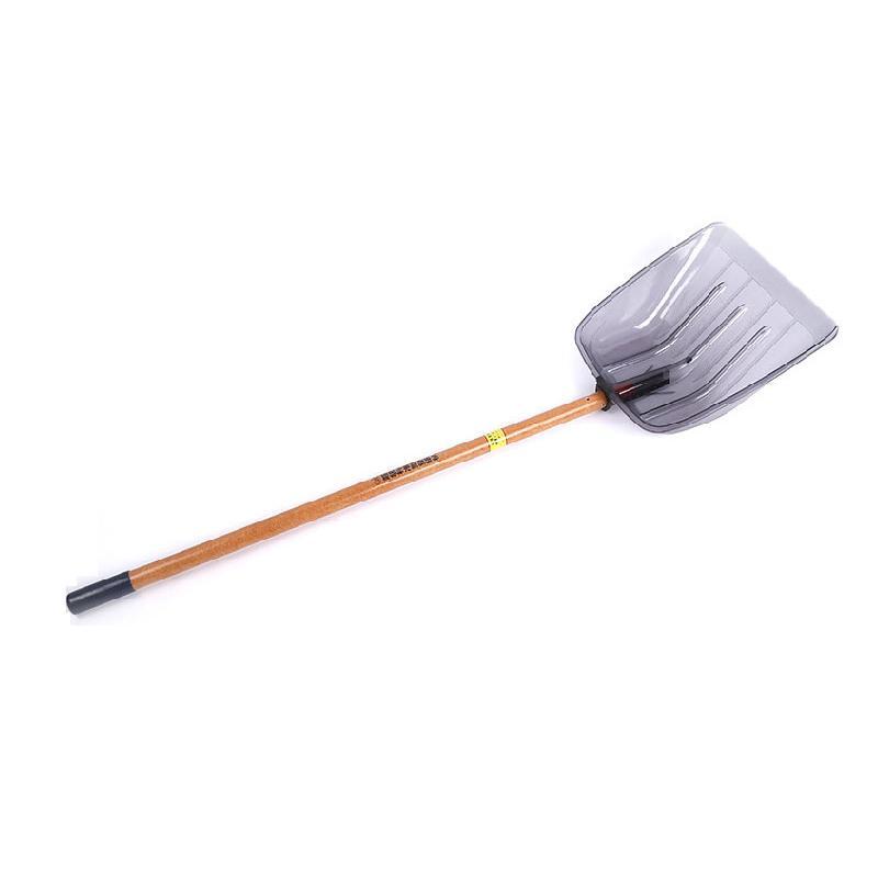 加厚深铲42#38带柄一套 (颜色随机)雪铲42*38 cm 木柄长1.4米 总长1.82米
