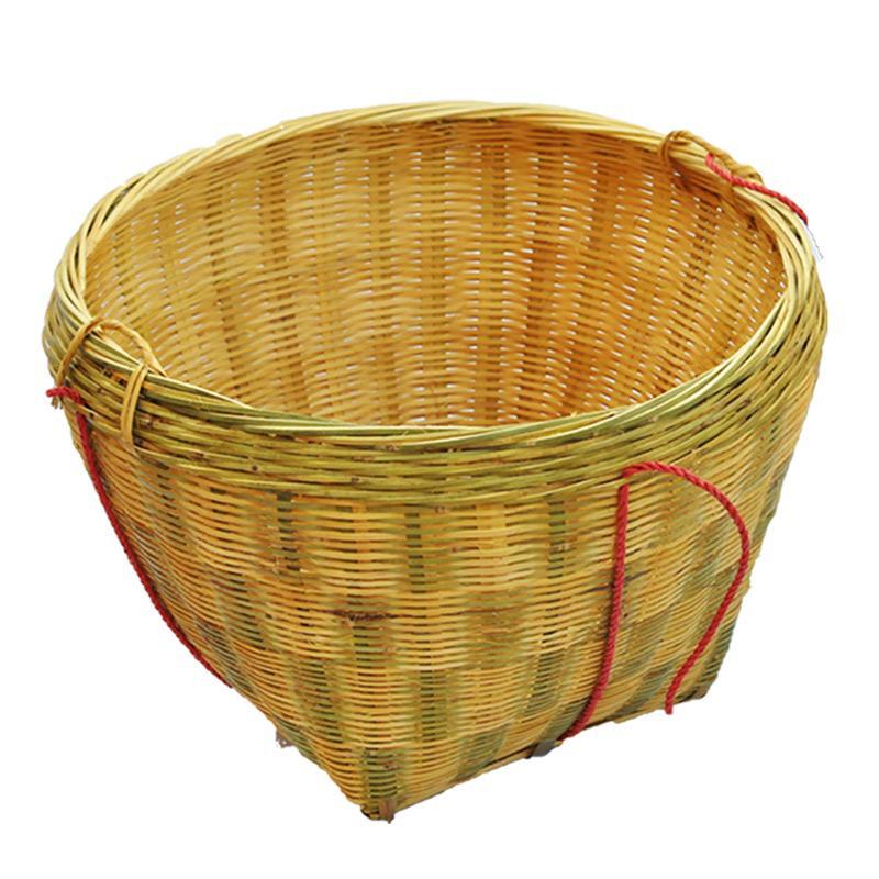大号箩筐竹编制品 淘米箩篼 粮食竹筐 收纳篓喜事筐簸箕