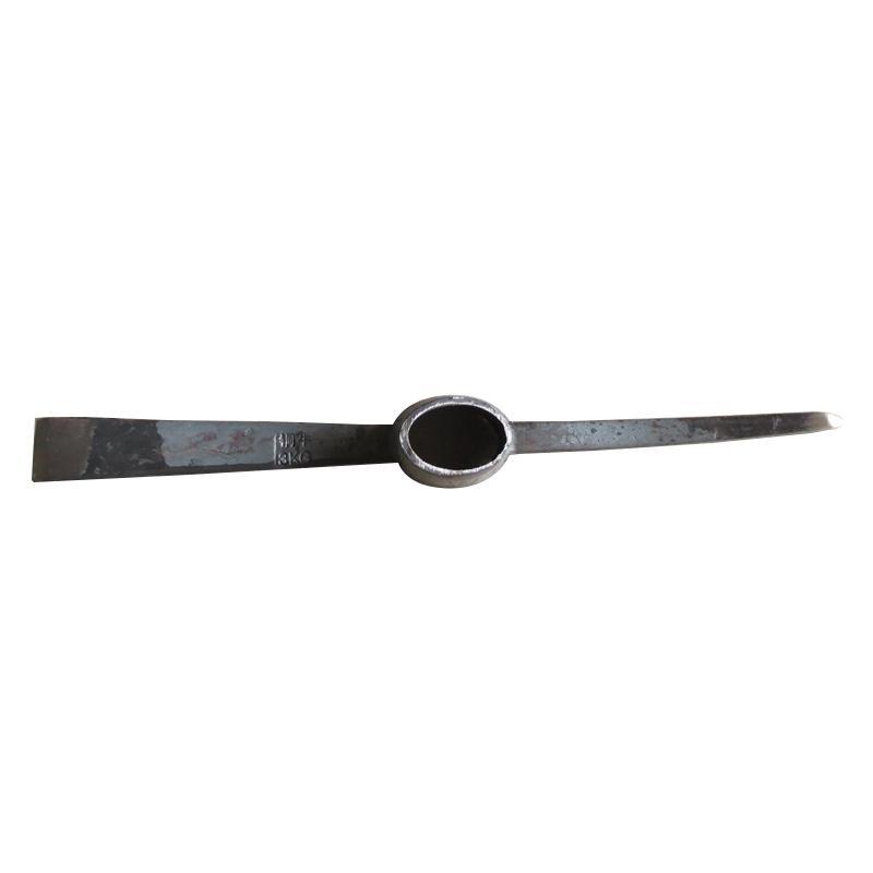 小号扁尖镐头,长500mm刃宽40mm,1.65kg 孔直径40*60mm不带柄