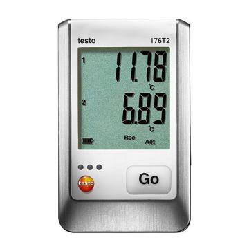 德图/Testo 温度记录仪,配有2个外接Pt100温度探头接口,testo 176-T2,订货号:0572 1762