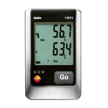 德图/Testo 温度记录仪,testo 176-T4,订货号:0572 1764