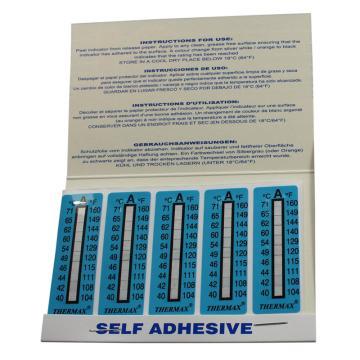 温度美/TMC 热敏贴纸,Thermax不可逆系列10格A,40/42/44/46/49/54/60/62/65/71℃,10包100片