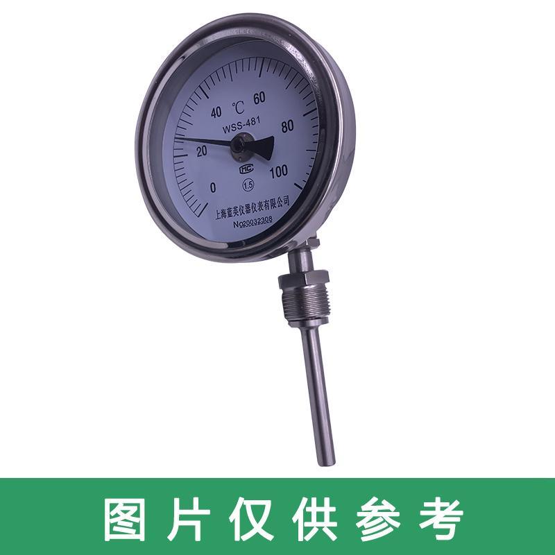 万向型双金属温度计,WSS-481 0-150° L=75,接头M27*2