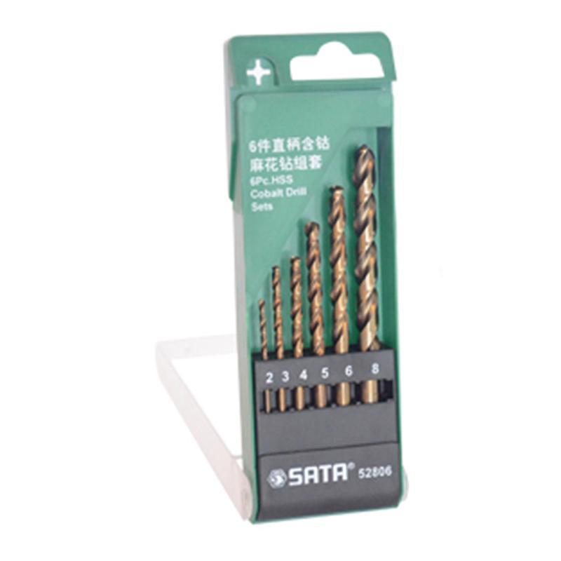 世达SATA 6件套直柄含钴麻花钻 2-8mm 6件套 52806