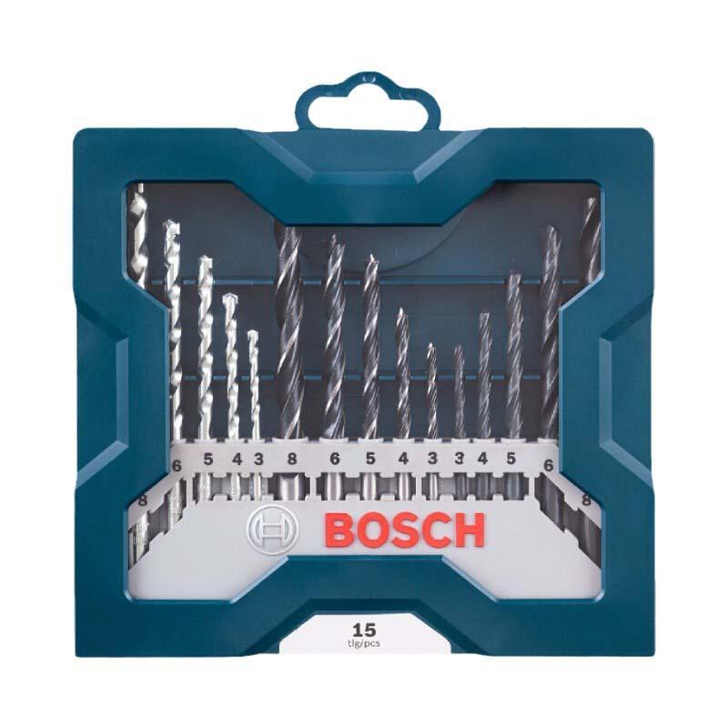 博世Bosch 15支钻头混合套装 -蓝色版 2607017504