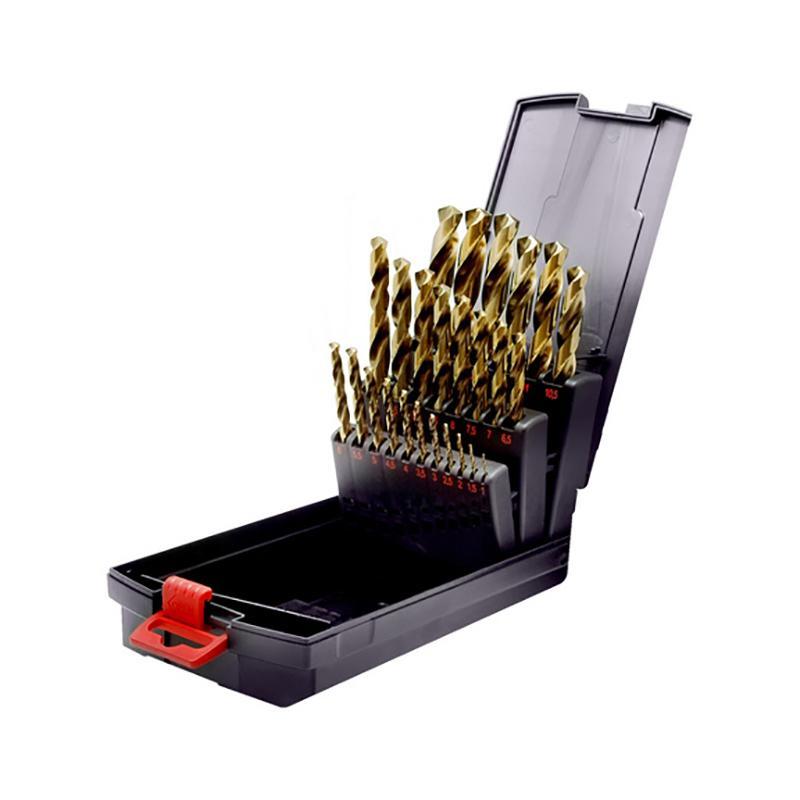 伍尔特WURTH 0617400004 HSCO含钴高速钢麻花钻组套-不锈钢适用-DIN338-25件套