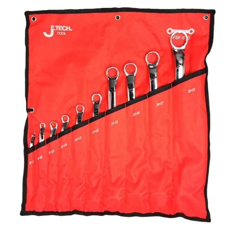 捷科JETECH 镜抛双梅花扳手套装,10件套,OFSF-S10,040820