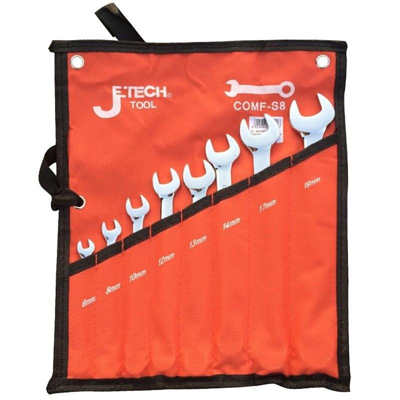 捷科JETECH 镜抛两用扳手套装,8件套,COMF-S8,041408