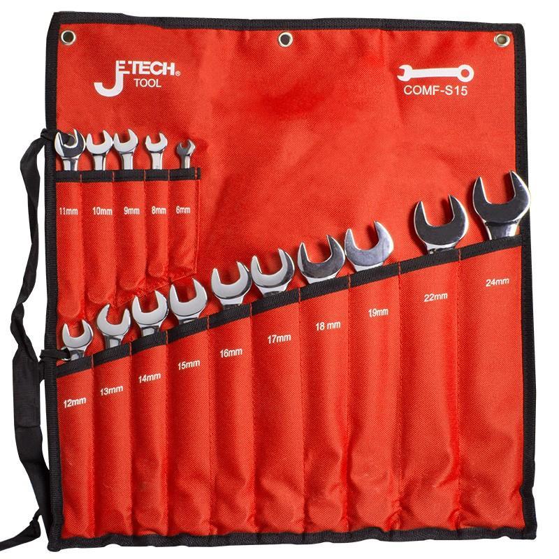 捷科JETECH 镜抛两用扳手套装,15件套,COMF-S15,041415