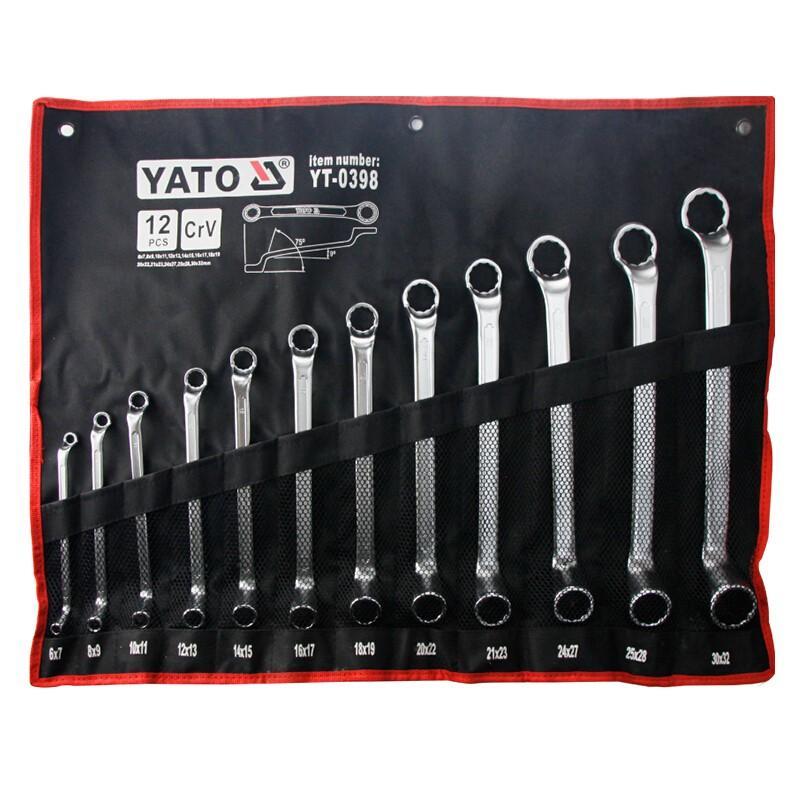 易尔拓YATO 双头高颈梅花扳手组套,12件套,YT-0398