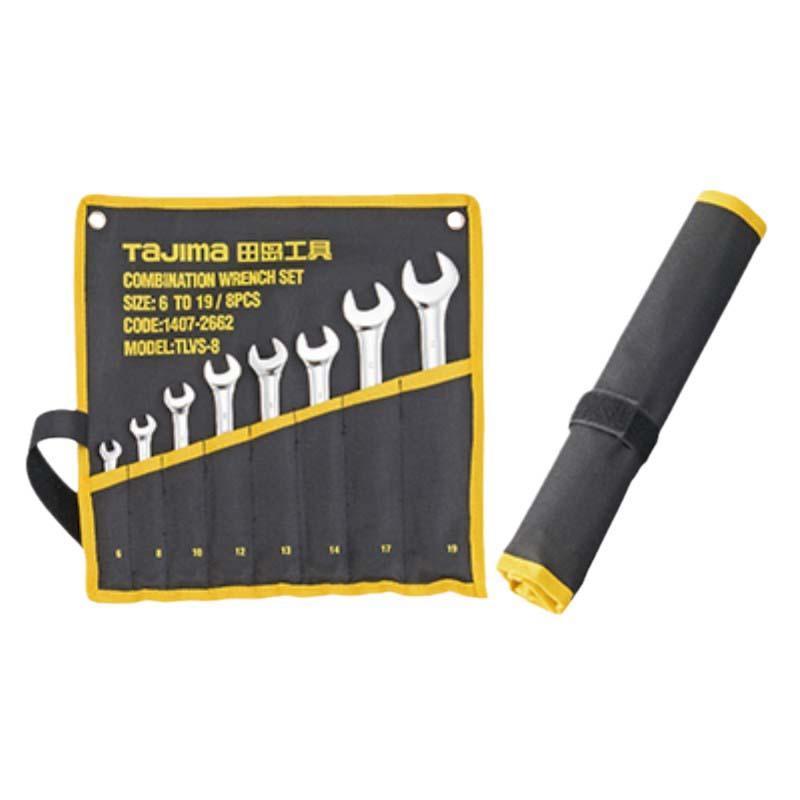 田岛TAJIMA 8件两用扳手套装,6-19mm,1407-2662,TLVS-8