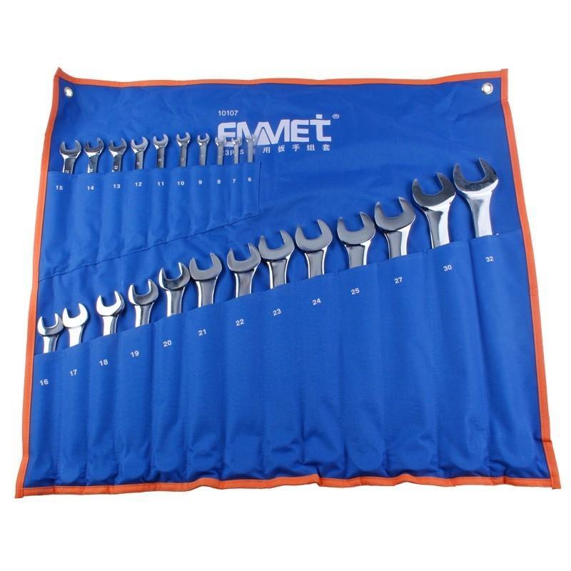埃米顿Emmet 23件精抛平面两用扳手组套(布袋装),23PCS,11210107