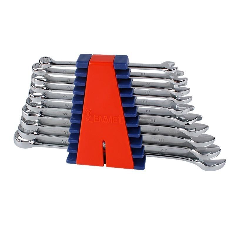 埃米顿Emmet 10件精抛平面两用扳手组套(塑夹装),10PCS,11210103