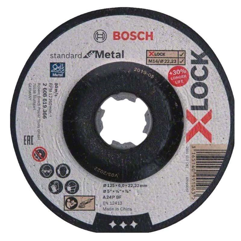 博世Bosch X-LOCK 标准型金属研磨片125x6x22.23mm 2608619366