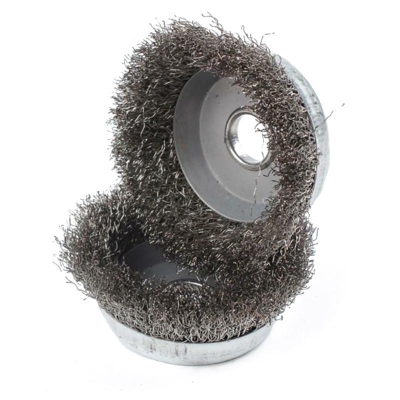 不锈刚碗形钢丝轮 φ80 100个/箱