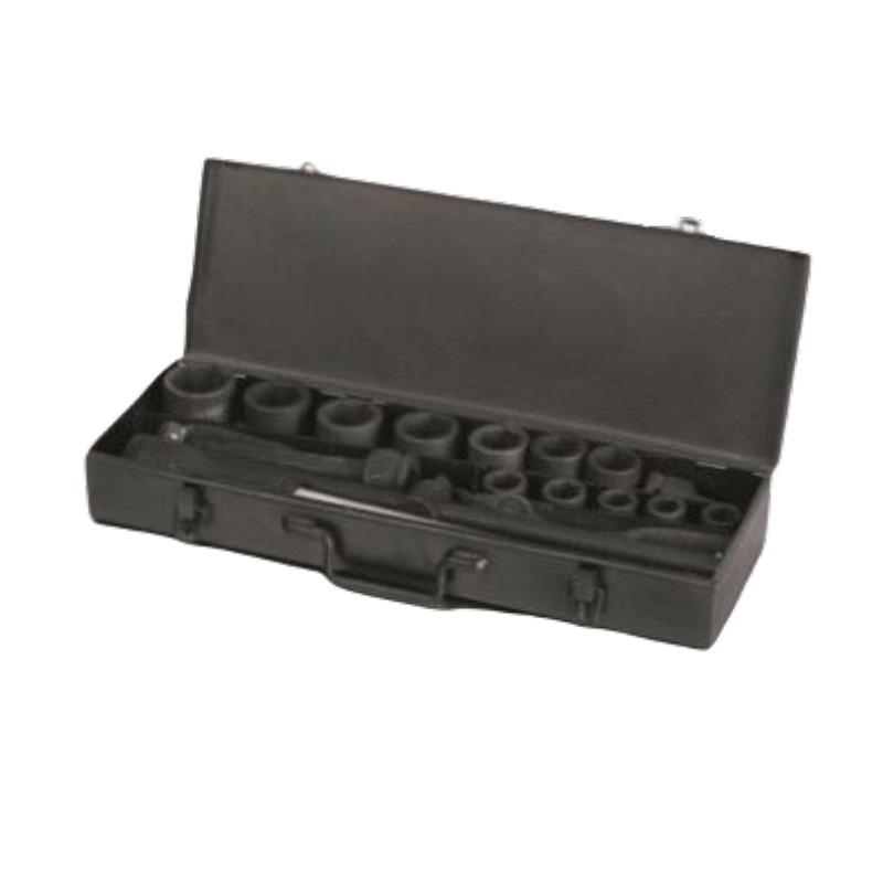 """塔夫TAFFTOOL 3/4""""六方套筒棘轮扳手组套,18件套,5090418"""