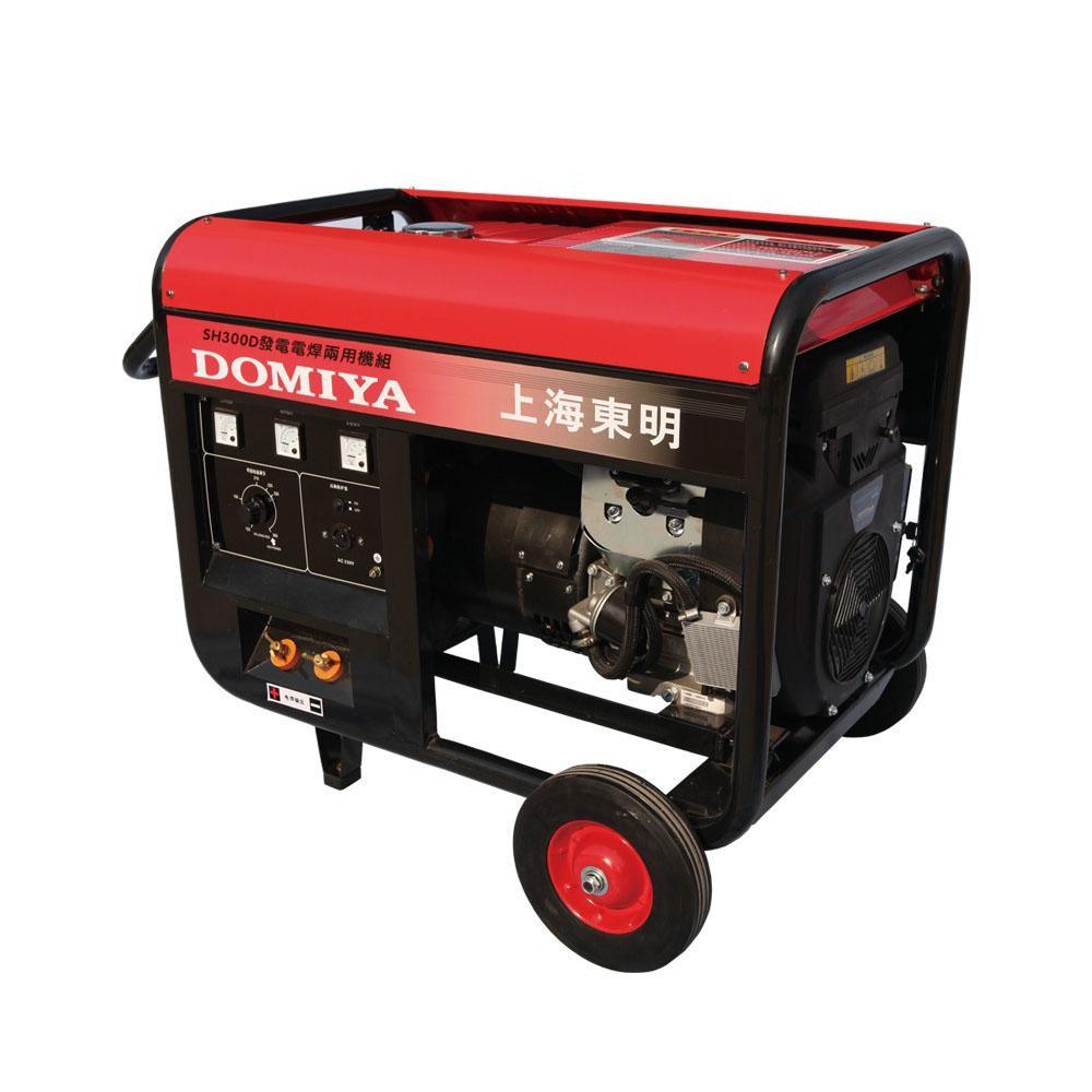 上海东明单相汽油发电电焊两用机,SH300D,适用焊条3.2-6.0mm