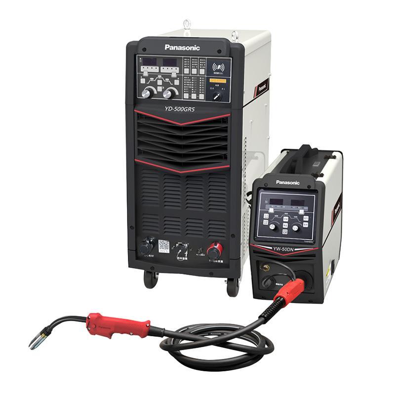 松下/Panasonic全数字控制CO2/MAG/MIG气体保护焊机 YD-500GR5HVE 带送丝装置 流量计 3米焊枪