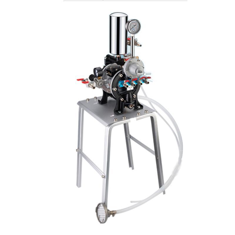 吉森牌/GISON A-15油漆喷漆泵(气动隔膜泵+大流量稳压阀+缓冲罐+铝合金支架)