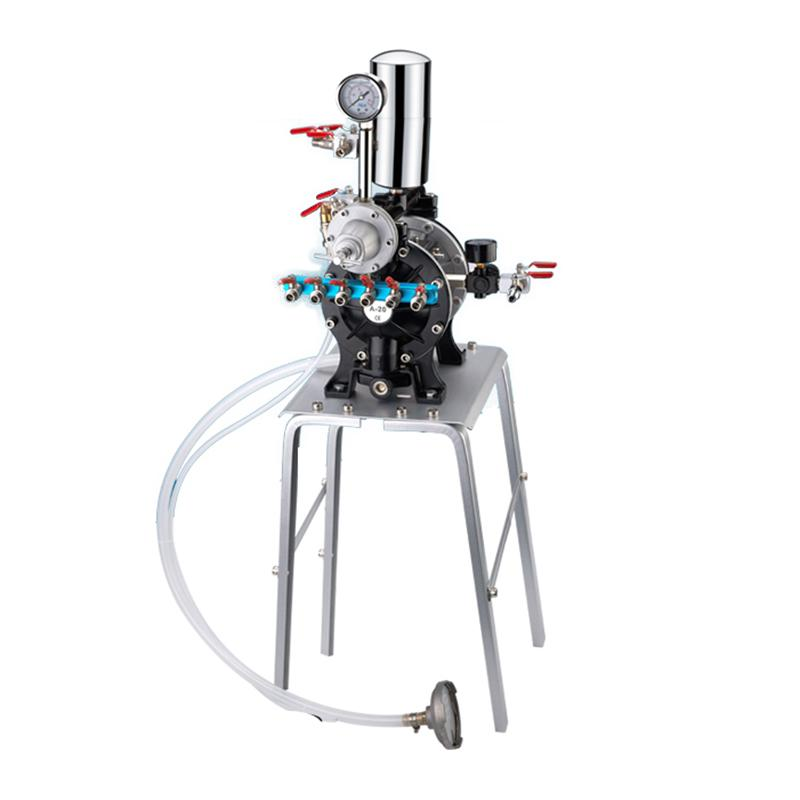 吉森牌/GISON A-20油漆喷漆泵(气动隔膜泵+大流量稳压阀+缓冲罐+铝合金支架)