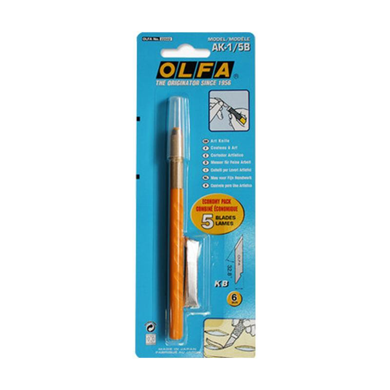 OLFA 细致美工用雕刻刀笔刀,刀片5片,AK-1/5B