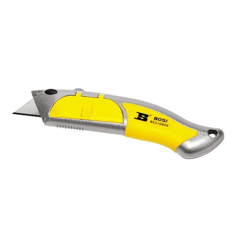 波斯锌合金重型美工刀,内置5刀片,BS310606