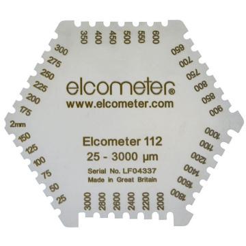 Elcometer六角湿膜梳,3236/2,范围25-2000μm