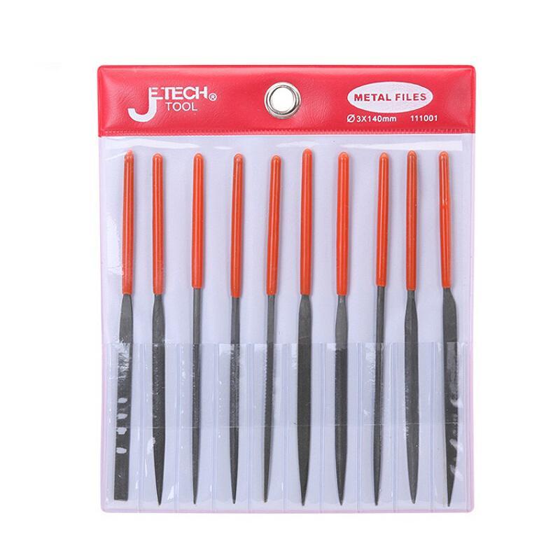 捷科JETECH 10件套什锦锉刀 MF-10A 整形锉刀 木工打磨工具 钳工 锉刀