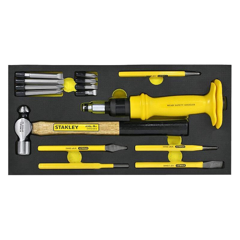 史丹利EVA工具托组套-15件冲击螺丝刀系列,90-042-23
