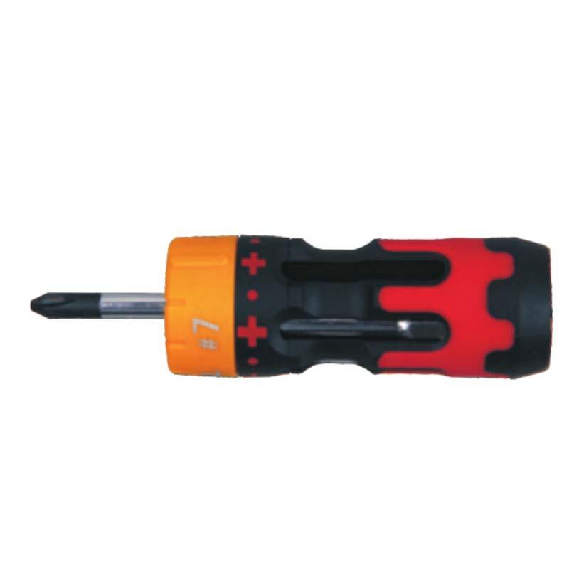 捷科JETECH 长六合一棘轮螺丝批套装,S4GR-107,050834