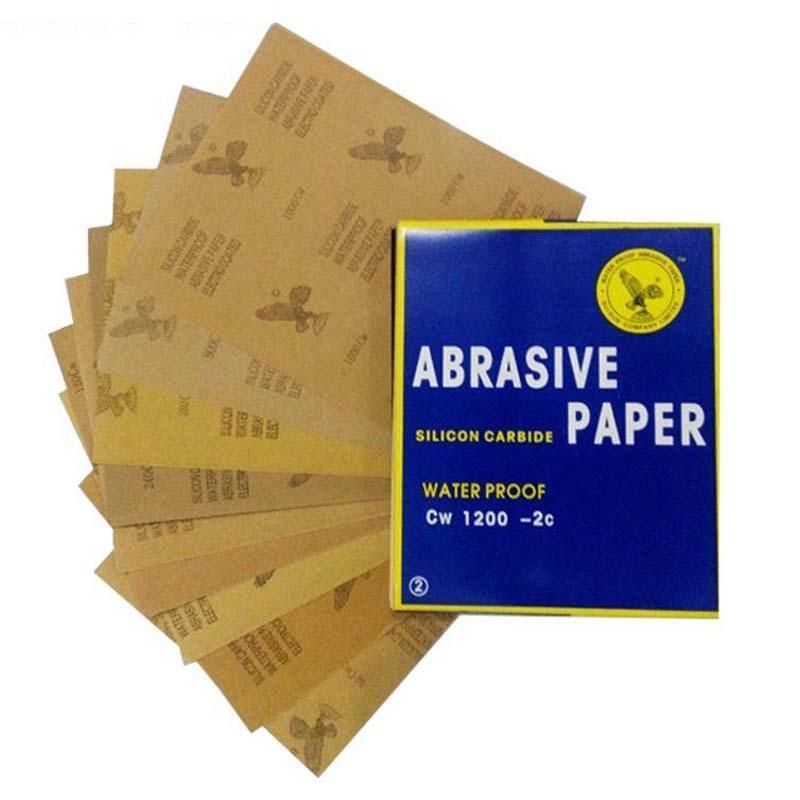 鹰牌耐水砂纸,碳化硅,120目,100张/包