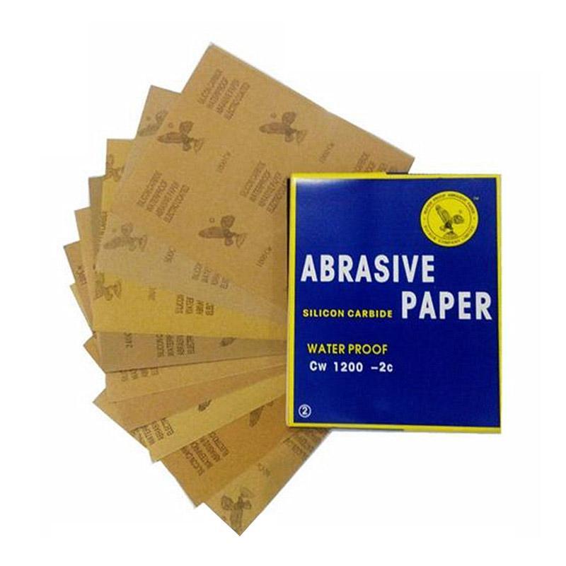 鹰牌耐水砂纸,碳化硅,1200目,100张/包