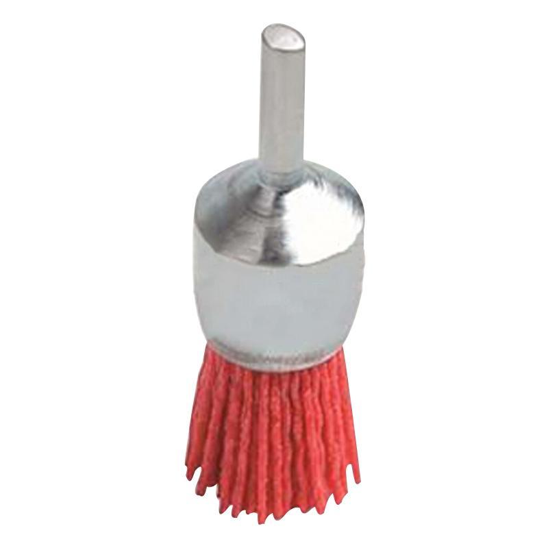 尚弘尼龙齐头刷,直径17mm,柄径6mm,氧化铝磨料丝粒度80,丝径1.2mm,509911-3008,10只/包