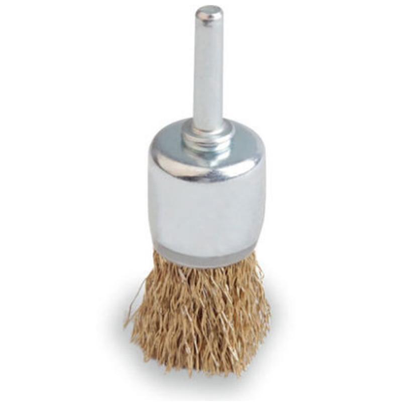 尚弘曲丝笔形钢丝刷,直径12mm,柄径6mm,丝径0.3mm,509061-9009,10只/包