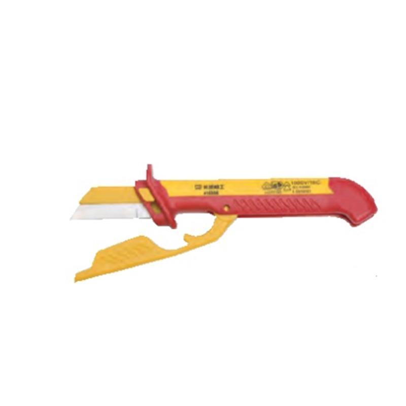 长城精工Greatwall 双色VDE绝缘直平可换式电缆刀,48*185mm,416206