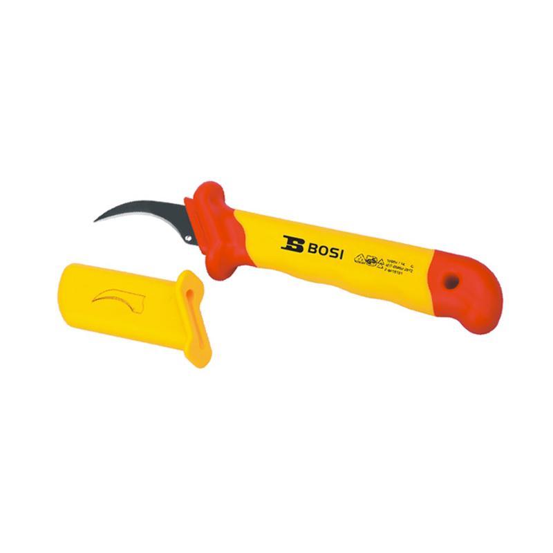 波斯BOSI VDE绝缘镰刀型电缆刀,50*180mm,BS600207