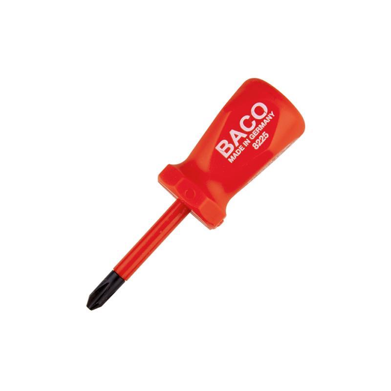 巴可BACO 电工绝缘十字短改锥,PH2×46mm,8225-2