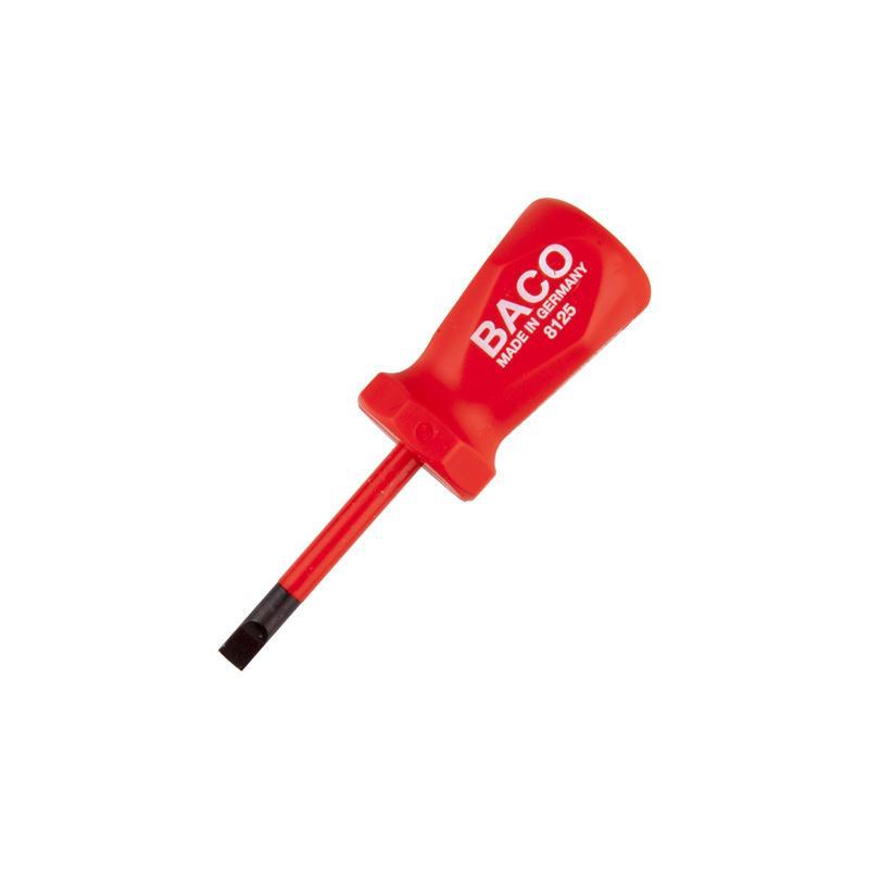 巴可BACO 电工绝缘一字短改锥 1.0×5.5×46mm,8125-5.5