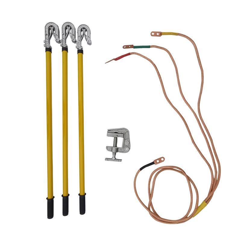 联护电力 110kV接地线、3*5+10米、35平方线、2节3米长接地棒、3个双簧钩头1个接地夹