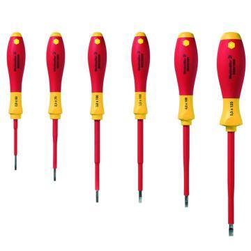 魏德米勒VDE绝缘一字螺丝刀组套 SDIS2.5-5.5 6件套(9205550000) 升级替代型号2749770000